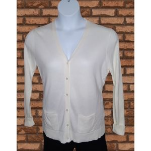 POLO Button Cardigan IVORY Sweater XL